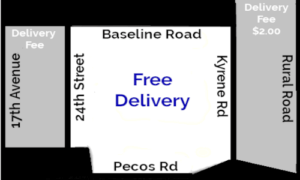 ahwatukee delivery area map